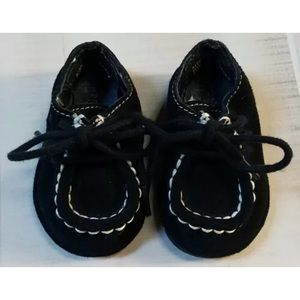 Gymboree sz 01 HOLIDAY CHEER Black Suede Shoes